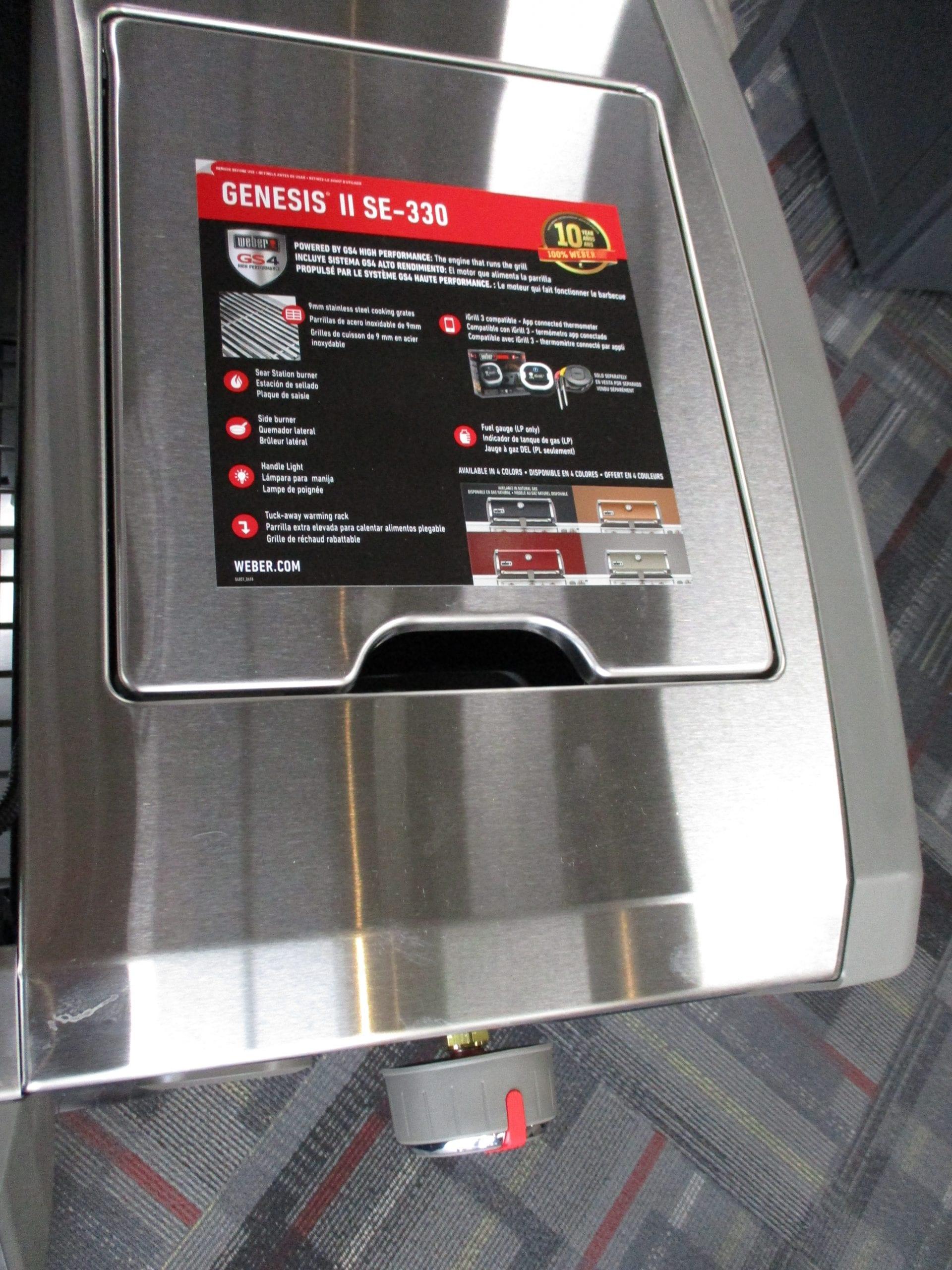 Genesis SE330 Grill details